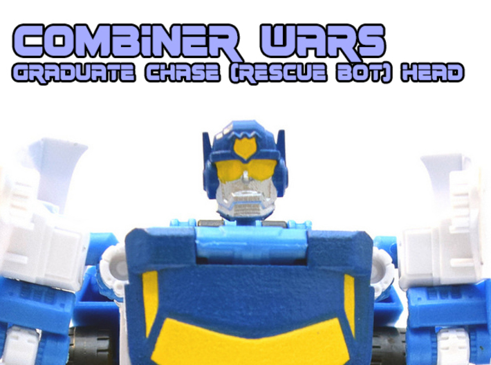 Chase Combiner Wars Head (4mm ball socket) 3d printed