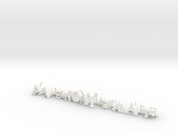 3dWordFlip: AcademyOfMagicalArts/MagicCastle 3d printed