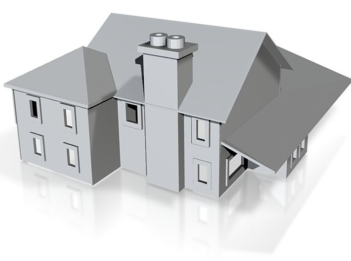 Country House Two Story 2 3d printed Country two Story 1:220 scale