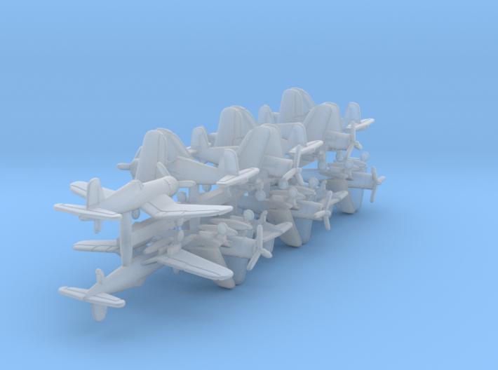 F4U-1 w/gear x12 (FUD) 3d printed