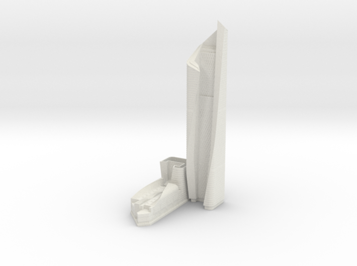 Al Hamra Tower (1:2000) 3d printed