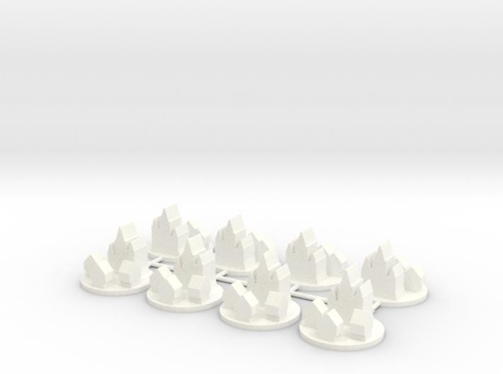Custom Order 8 Medieval Cities 3d printed