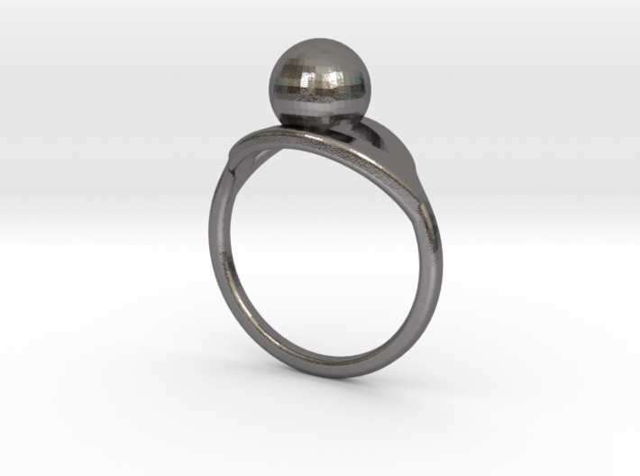 Ring With Pearls 3d printed