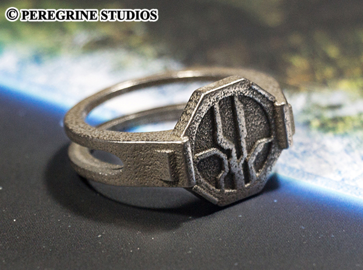 Ring - Mantle's Band (Size 13) 3d printed Stainless Steel