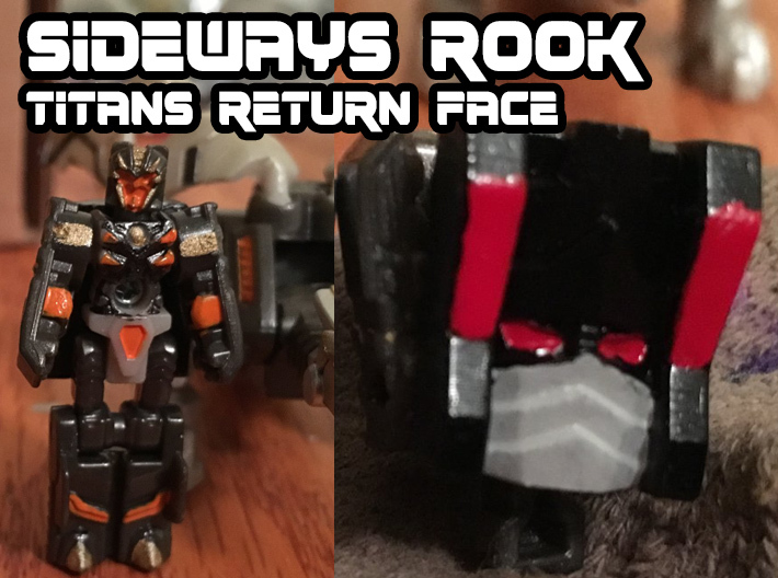 Sideways Rook Face (Titans Return) 3d printed Hand Painted Frosted Ultra Detail