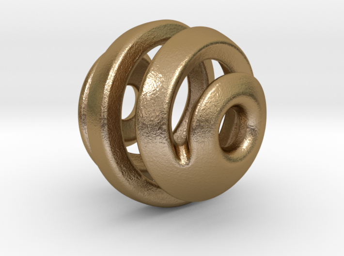 sphere spiral pendant 3d printed
