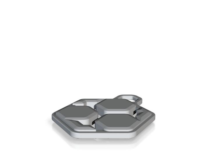 Neo Tomoe Pendant 3d printed