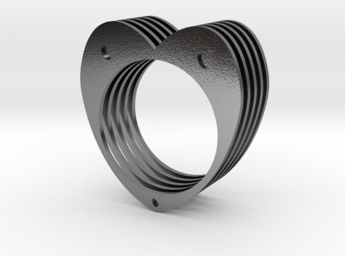 Anello Cuore Valentine 3d printed