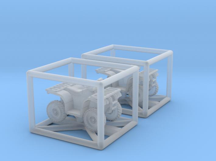 1:200 2x Quad ATV 3d printed