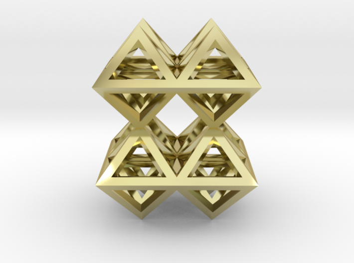 88 Pendant. Perfect Pyramid Structure. 3d printed