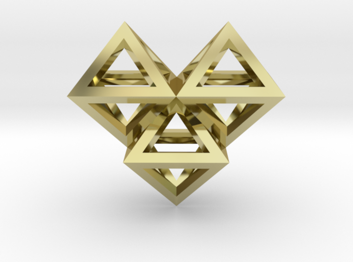 V6 Pendant. Perfect Pyramid Structure. 3d printed