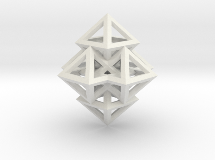 R12 Pendant. Perfect Pyramid Structure. 3d printed