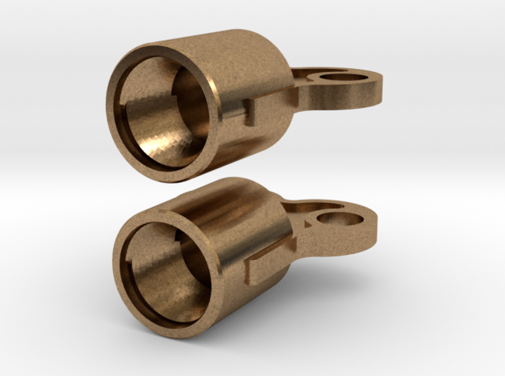 Winding Key earring valve caps 3d printed