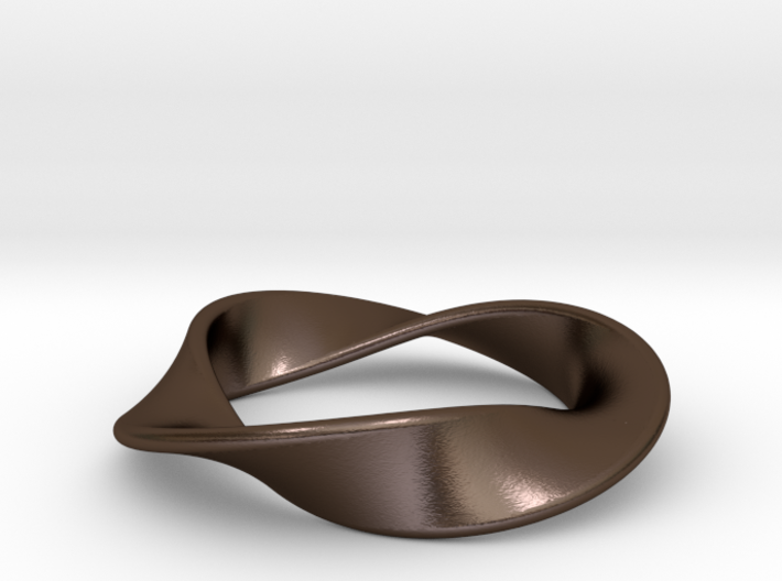 Moebius Strip Pendant (1.5 turns) 3d printed