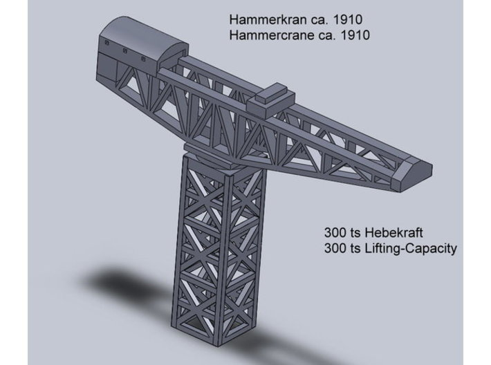 Hammerkran Dockside Crane 1/1800 3d printed Add a caption...