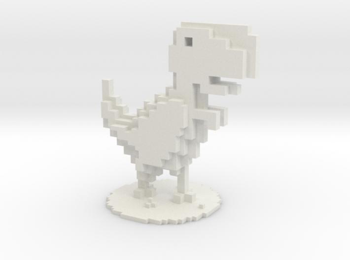 Voxel Dino T-Rex Chrome 3d printed