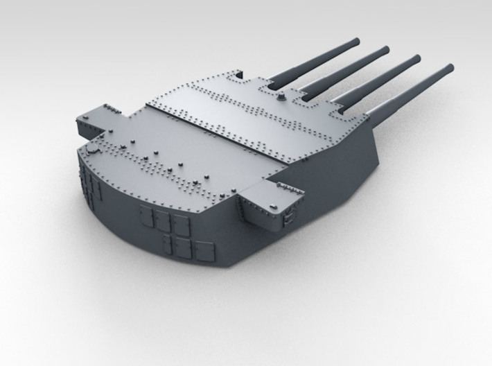 "1/700 HMS King George V 14"" Turrets 1942 3d printed 3d render showing product detail (A Turret)"