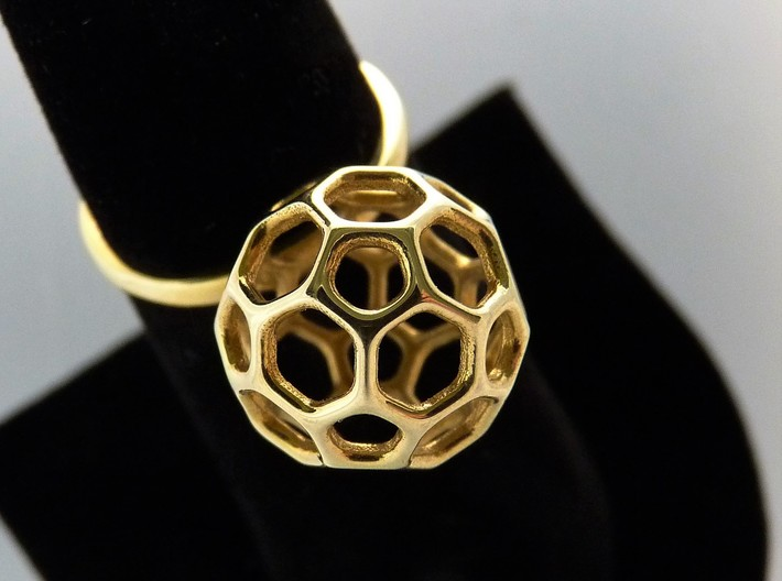 Simple Ball Summer Ring Size 7 3d printed