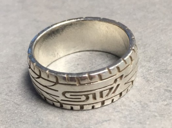 Subaru STI ring - 20 mm (US size 10) 3d printed