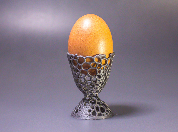 Voronoi Egg Holder 3d printed