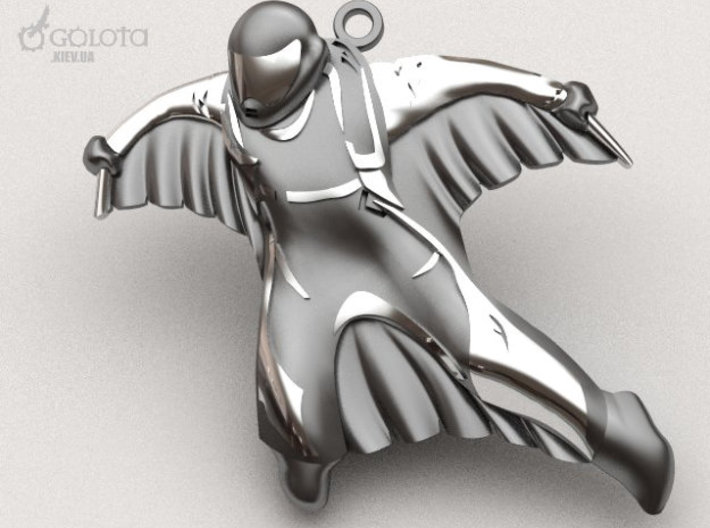 Wingsuit Keychain (and pendant) 3d printed wingsuit keychain