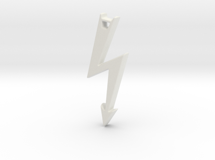 Electrical Hazard Lightning Bolt with Hole 3d printed