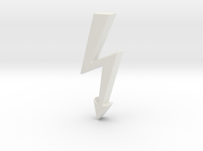 Electrical Hazard Lightning Bolt b 3d printed