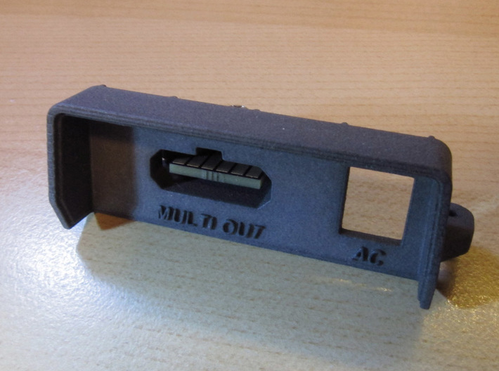 NES Top Loader SNES Style Multiout Rear Panel 3d printed Prototype shown with dye applied.