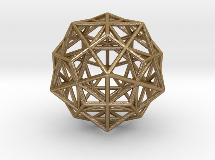 Stellated IcosiDodecahedron 3d printed
