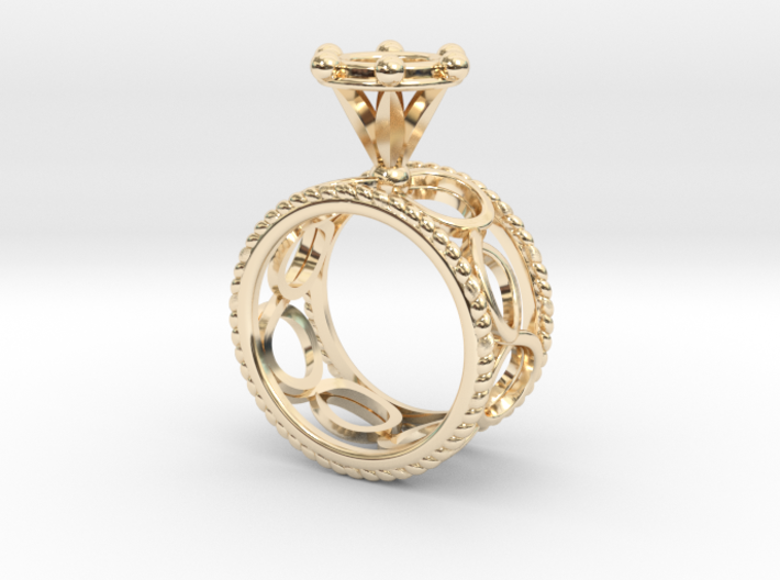 Ring Byzantinium Wide 3d printed