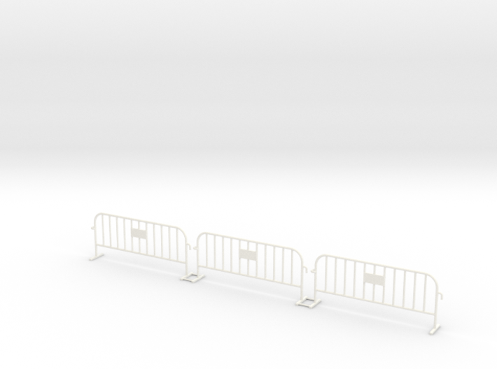 3x PACK 1:50 Small construction fence 3d printed