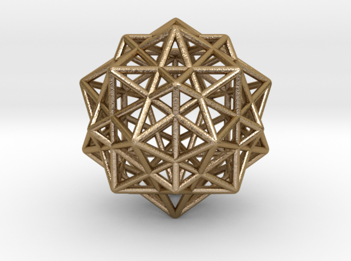 Icosahedron with Star Faced Dodecahedron 3d printed