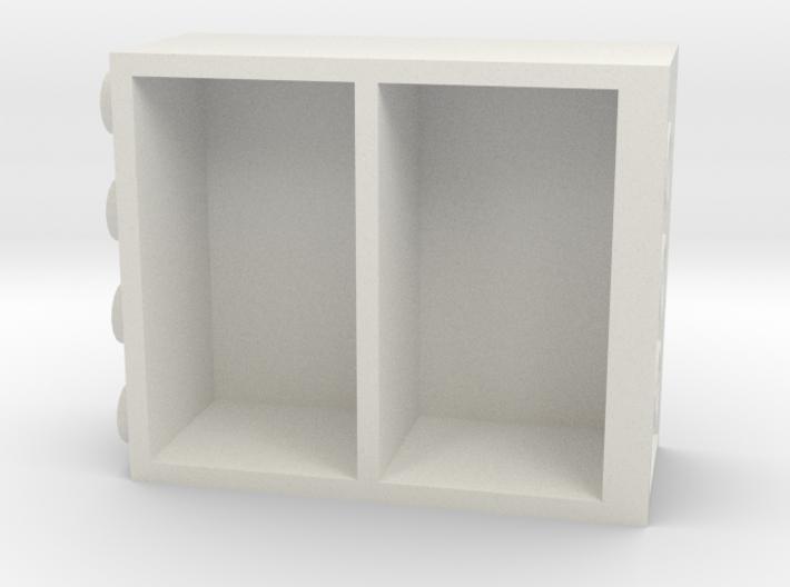 Building Block Book Case 3d printed
