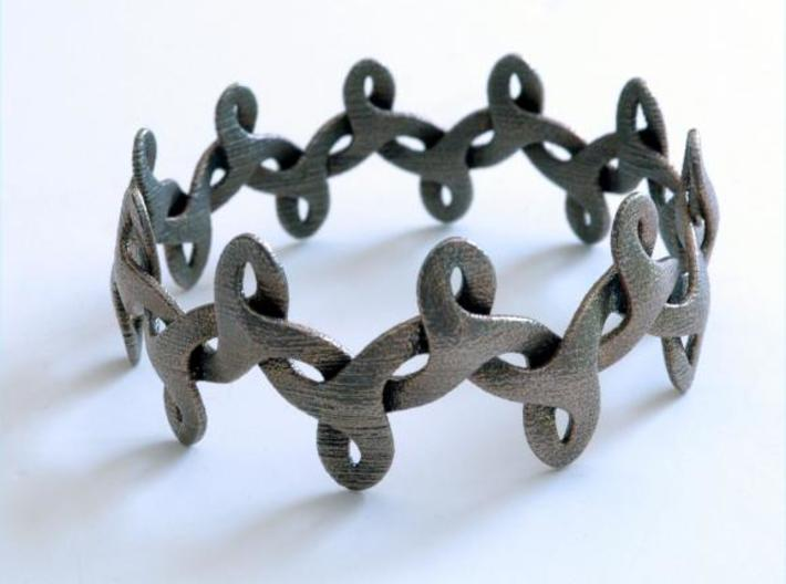 Bracelet IV Medium 3d printed photo of bracelet in stainless steel