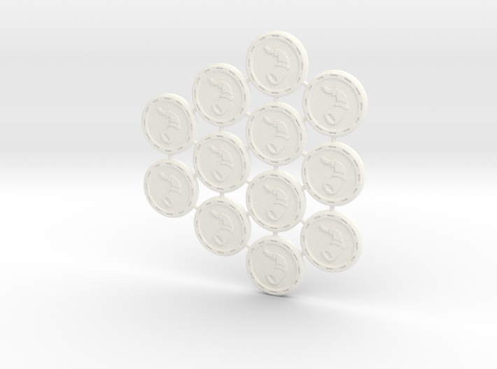 Descent Valor tokens  - LotW (12 pcs) 3d printed