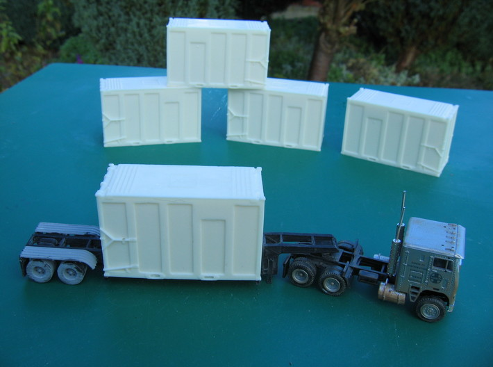 HO 1/87 MSW Trash Container for Atlas Flatcar 3d printed I intend to resin-cast these containers as an alternative to 3D-printing due to cost.