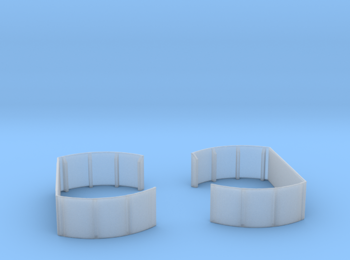 1/192 40mm Twin Midships Tub Set 3d printed
