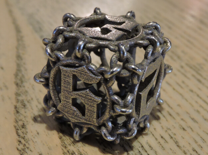 Chained D6 for steel 3d printed