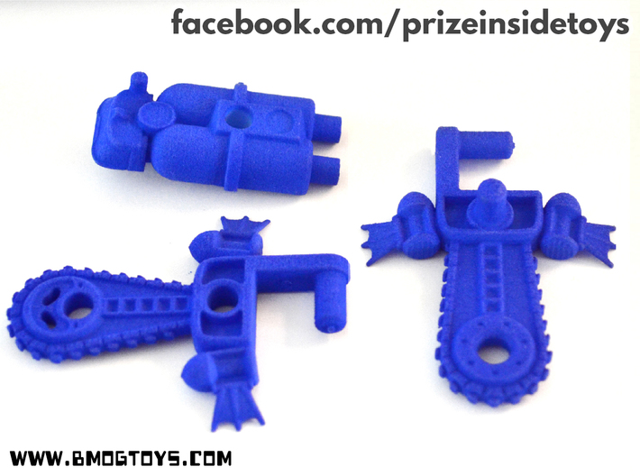 BMOG Chainbill Splatterpus 4-part Kit 3d printed Blue, strong and flexilbe print, weapon modes.
