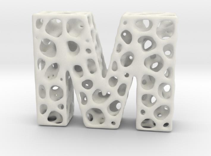 Voronoi Letter ( alphabet ) M 3d printed