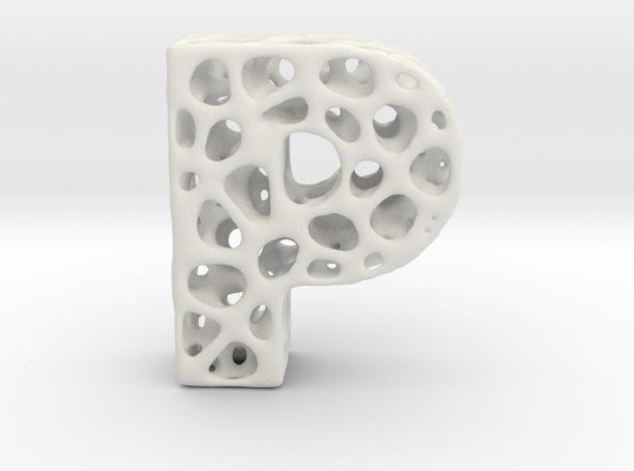 Voronoi Letter ( alphabet ) P 3d printed