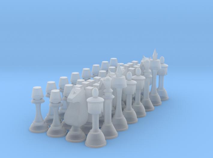 1/6 Code Geass Chess Full Set 3d printed