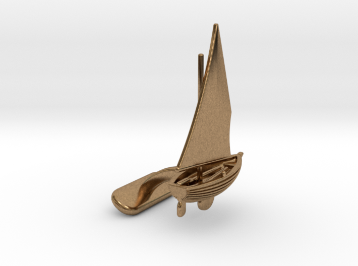 Small Sailing Boat Cufflink I 3d printed