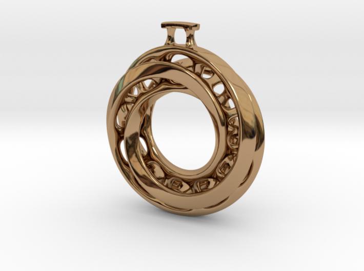 Moebius Twisted Pendant Interlocked 3d printed