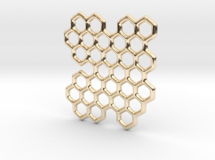 Cannivest Honey Comb Pendant 3d printed