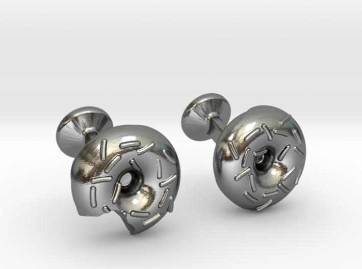 Custom Doughnut Cufflinks 3d printed
