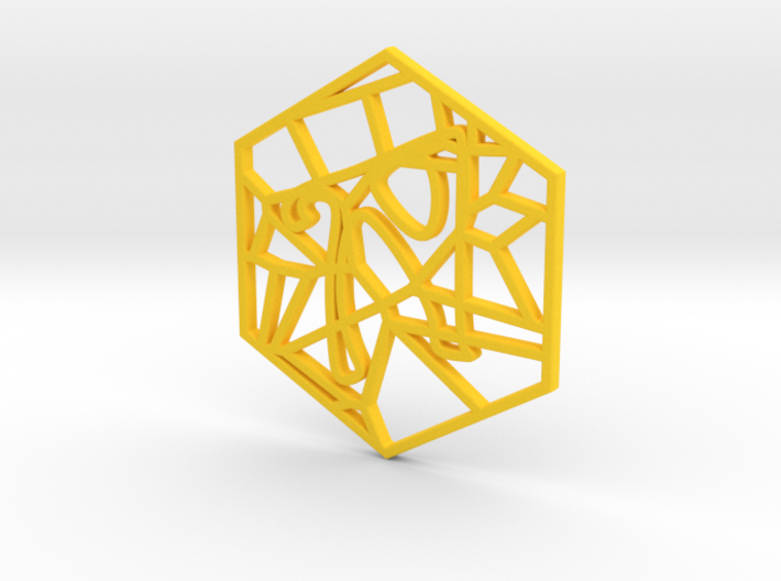 Personalised Voronoi Hexagonal Pattern Coaster (2) 3d printed Personalised Voronoi Hexagonal Pattern Coaster (2)
