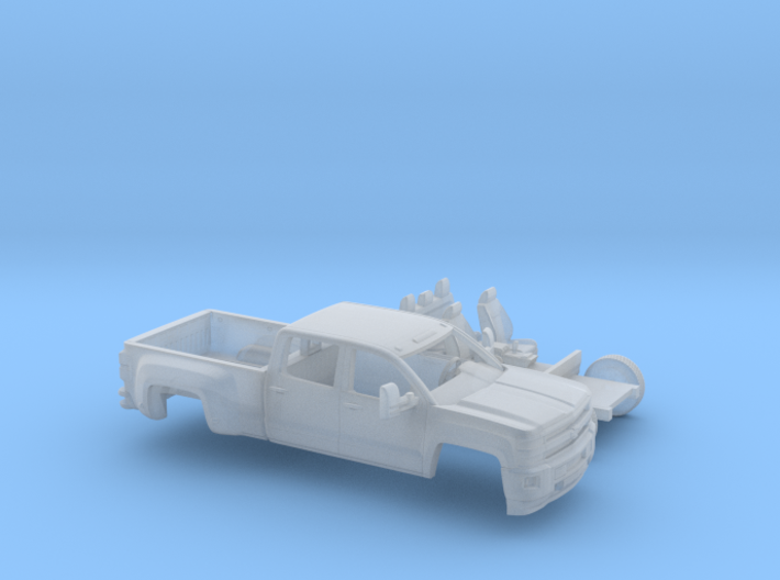 1/87 2015 Chevrolet Silverado HD Dually Short Bed 3d printed