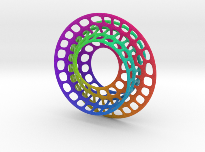 Quarter twist Möbius strip (color) 3d printed