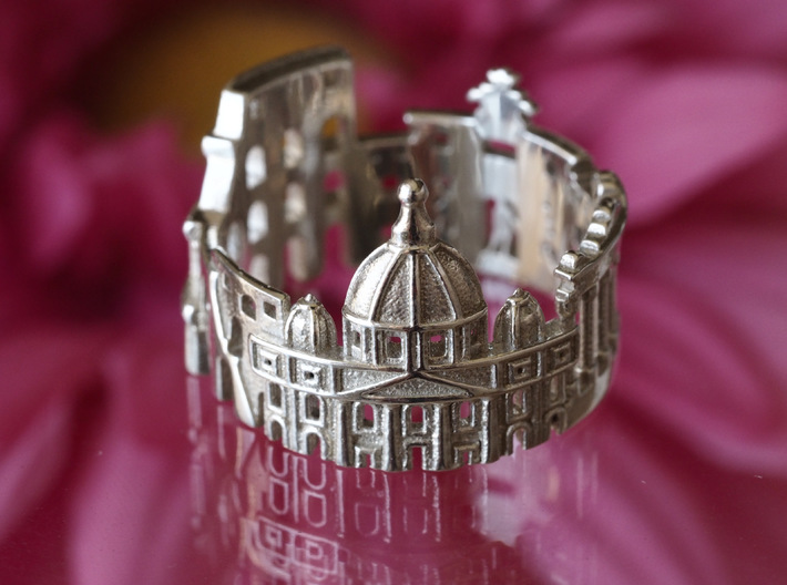 Rome Cityscape - Skyline Ring 3d printed